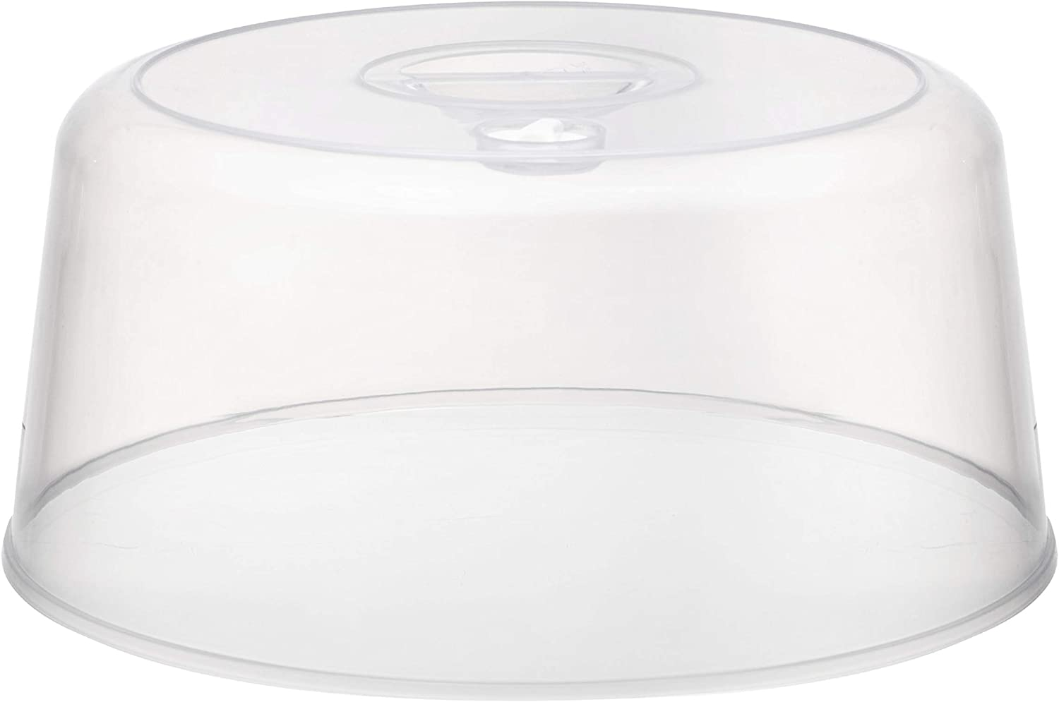 Clear Tall Microwave Plate Cover - Splatter Guard Lid for Heating Dish Inside Microwave - Multipurpose Food Covering with Steam Vented Holes and Handle | BPA-Free (1 Pack)