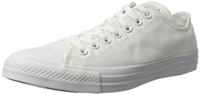 6ace5bbf9dd9c4 Converse Unisex Chuck Taylor All Star Ox Low Top Classic White Monochrome  Sneakers - 6 B