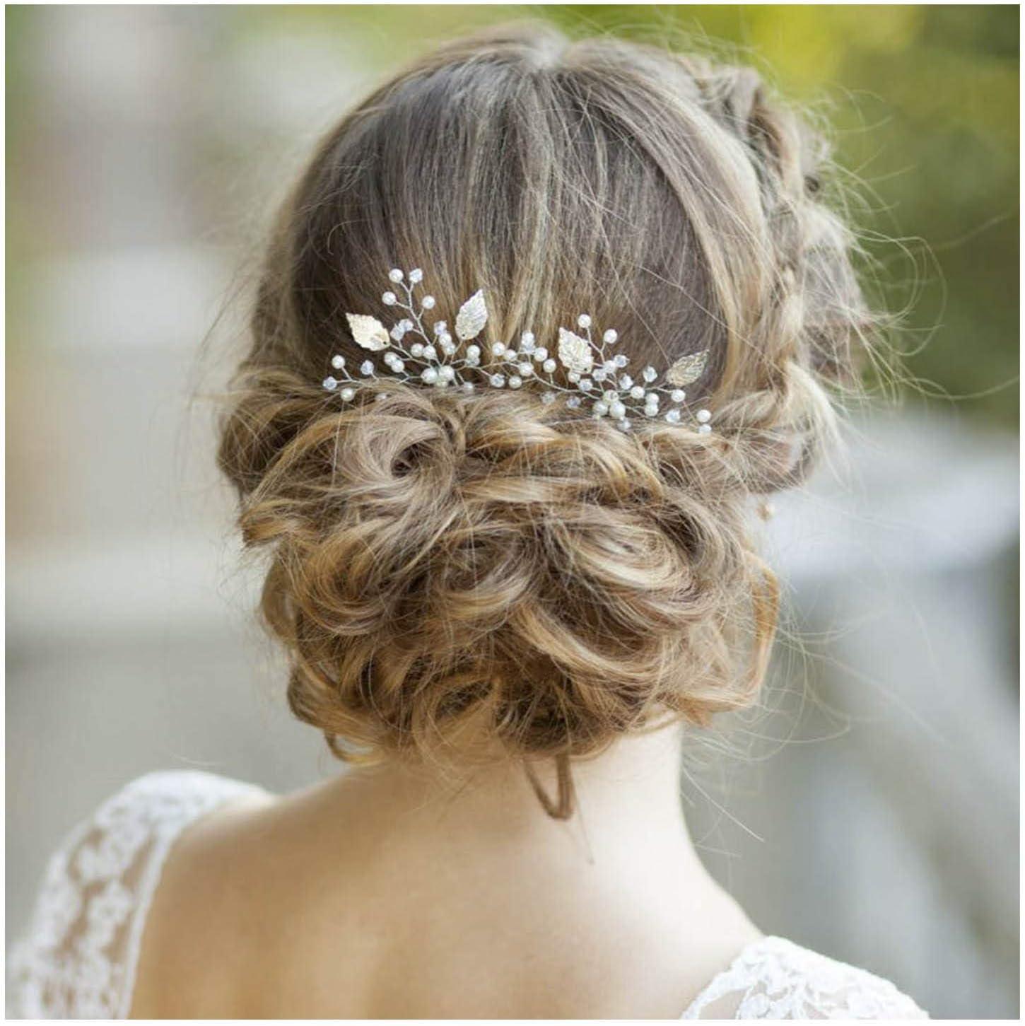 Pearl hair pins set of 7 silver hair pins Pearls hair accessories Wedding pearl headpiece Bridal white bobby hair pins