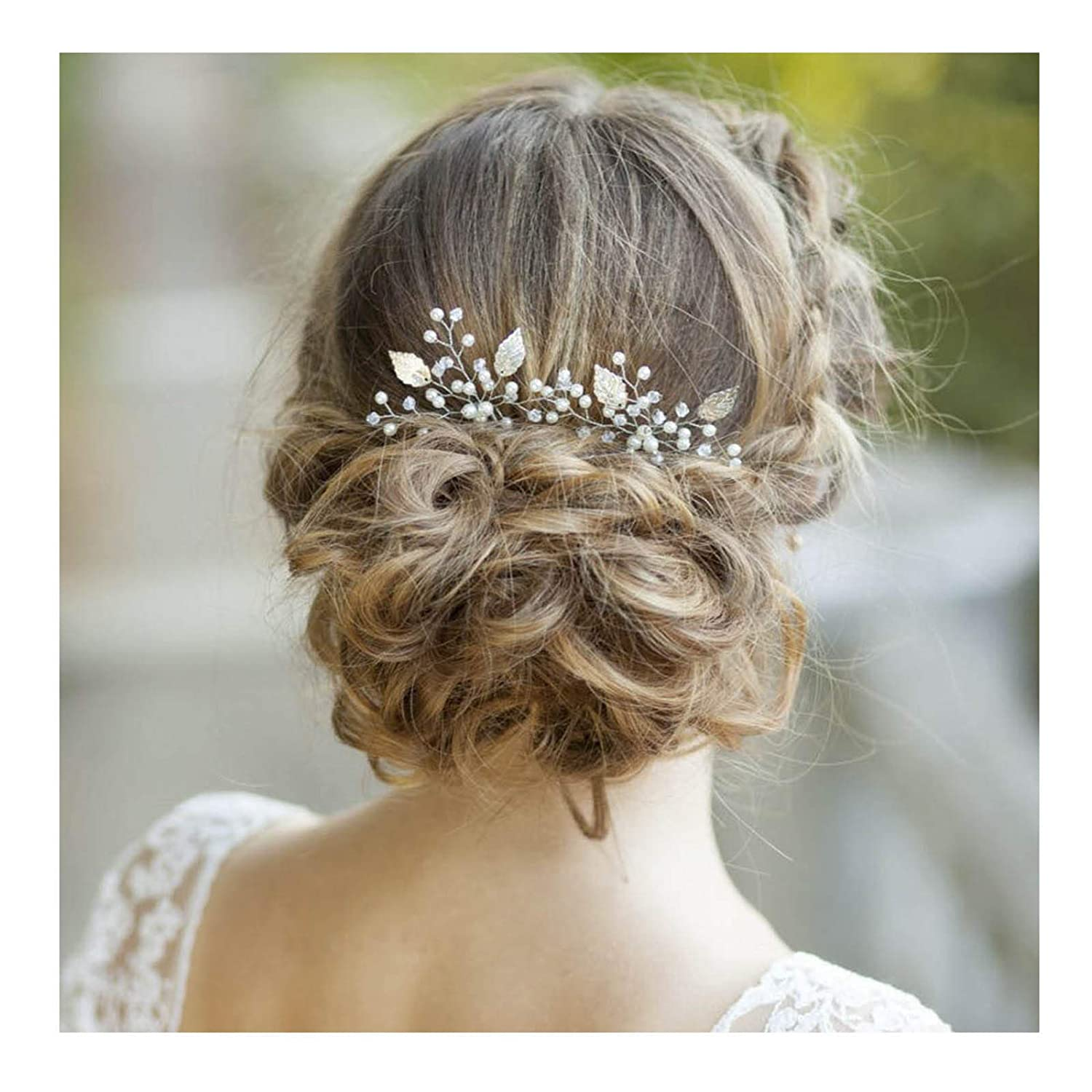 Leaf Hair Jewelry Bridal Clips Hair Combs Bridesmaid Tiara Flower Hair Pin