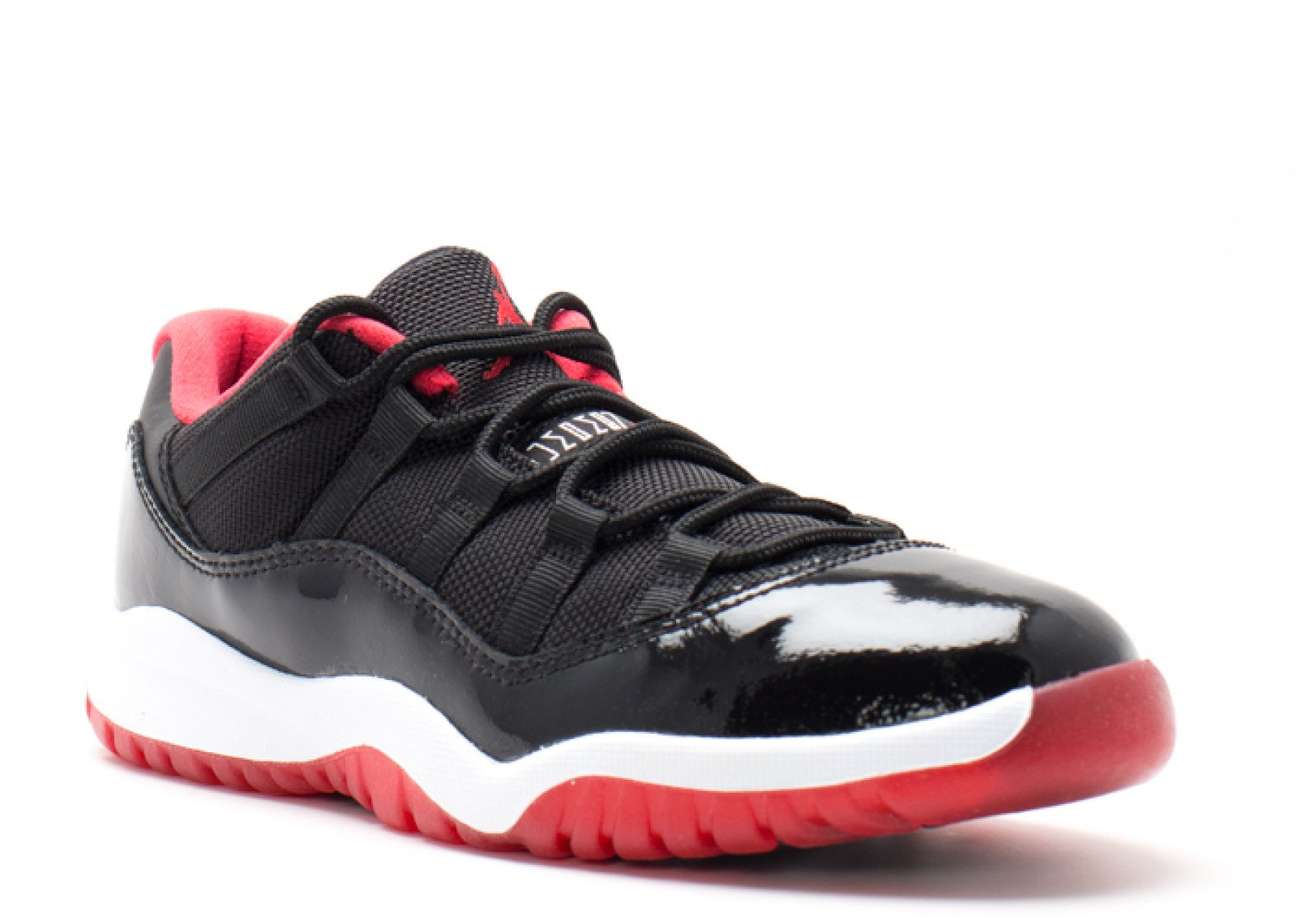 Jordan 11 Retro Low BP Black/Red/White 505835-012 (Size: 3Y)