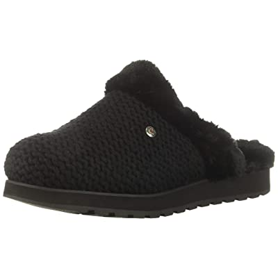 Skechers BOBS Women's Keepakes-Sleep in Nubby Knit Clog with Memory Foan Slipper   Shoes