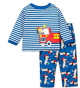 74c1a381b310 Baby Boys Pajamas Fire Truck Rescue Dog 18 months  Amazon.co.uk  Baby
