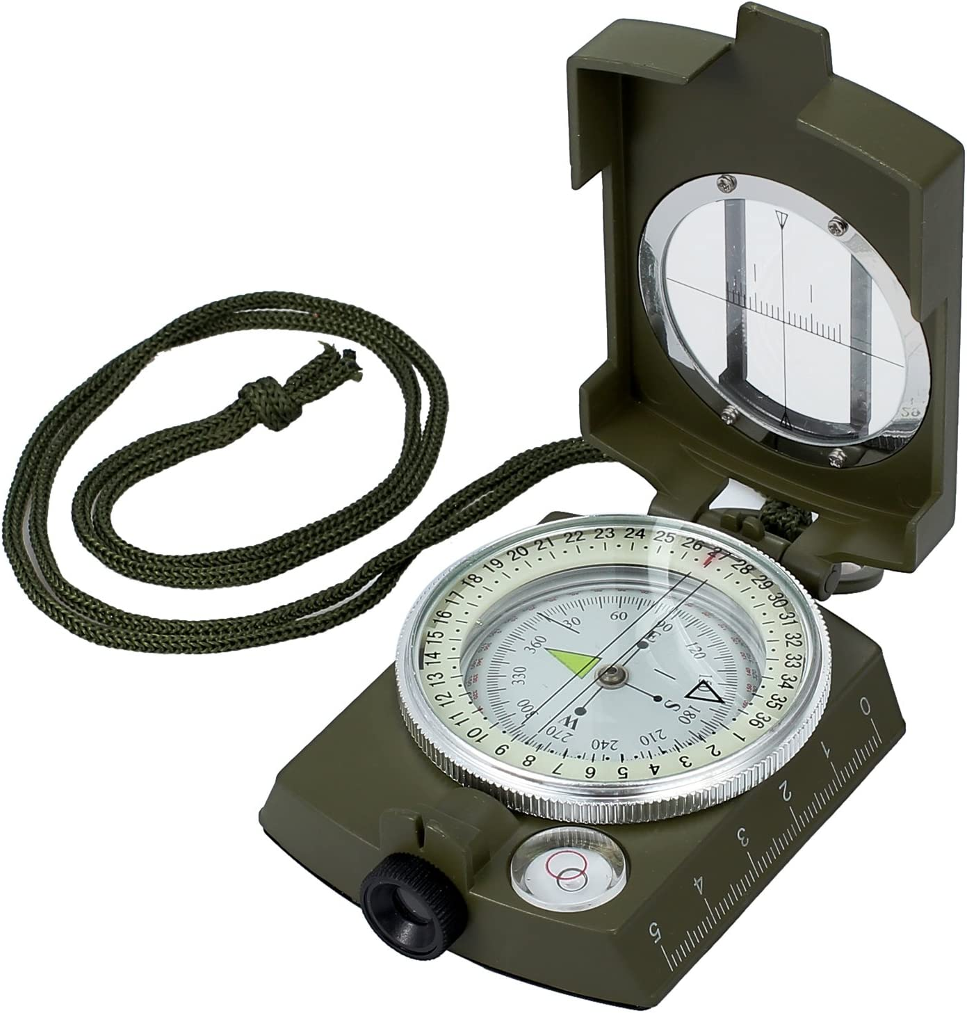 GWHOLE Waterproof Compass for Hiking Military Navigation with Pouch Lanyard and