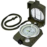 Kamtop Portable Compass Waterproof Navigation Compass with Bag Metal Sighting Compass for Hiking Camping Climbing Exploring Geology Outdoor Activities