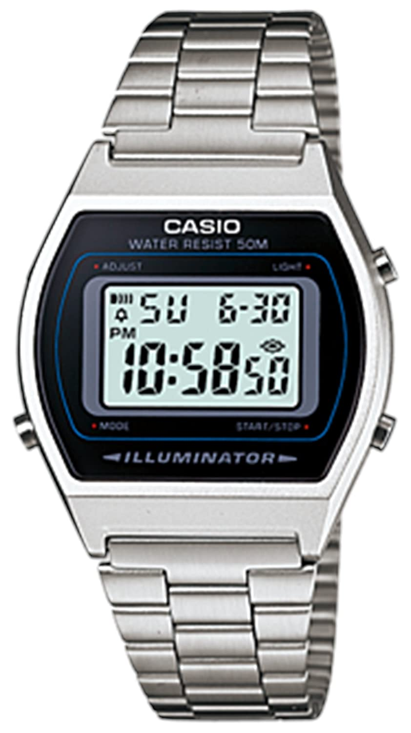 Casio B640 Wd 1 A Men's Silver Digital Retro Stainless Steel Watch by Casio
