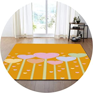 3D Romantic Wedding Decorative Bedd Room Rug Carpet Valentine's Day Present 3D Lovely Heart Flannel Mat Carpets for Living Room,No-2,152x99cm