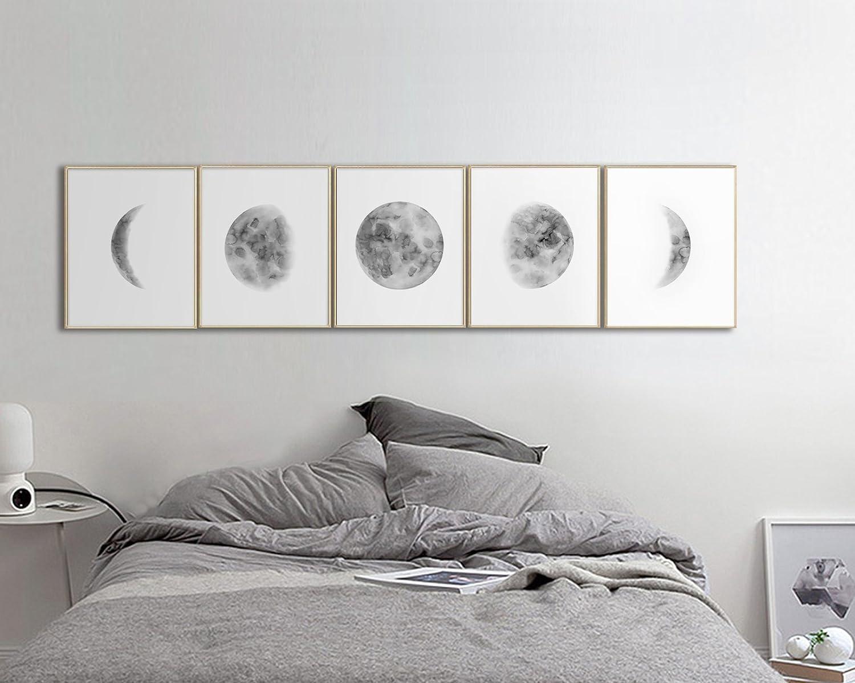 Amazon Com Wall Art For Bedroom Moon Phases Wall Art Print