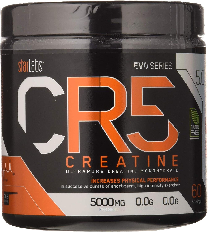 Starlabs nutrition cr5, creatina ultrapura micronizada, 300gr.