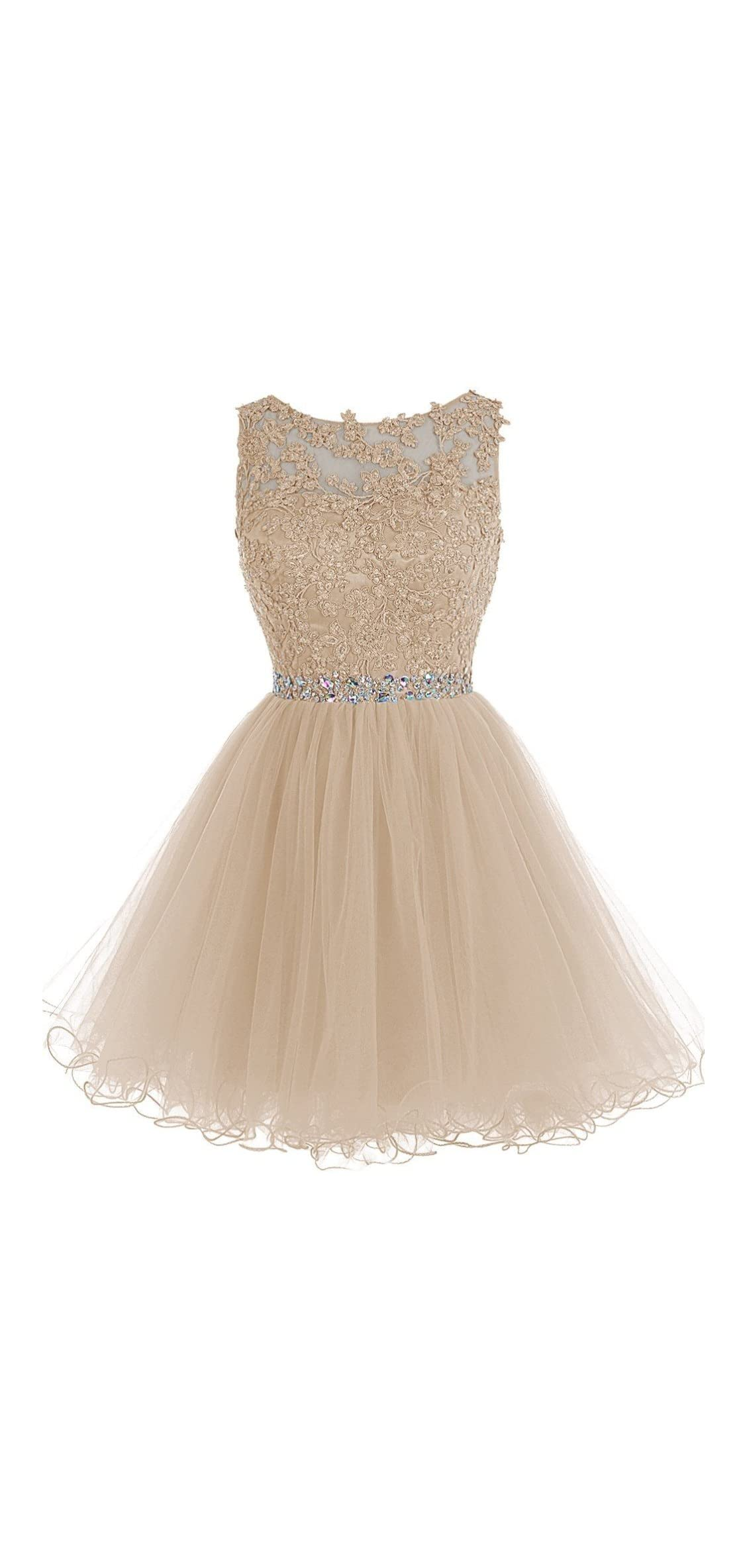 Women's Short Lace Homecoming Dresses Beaded Cocktail