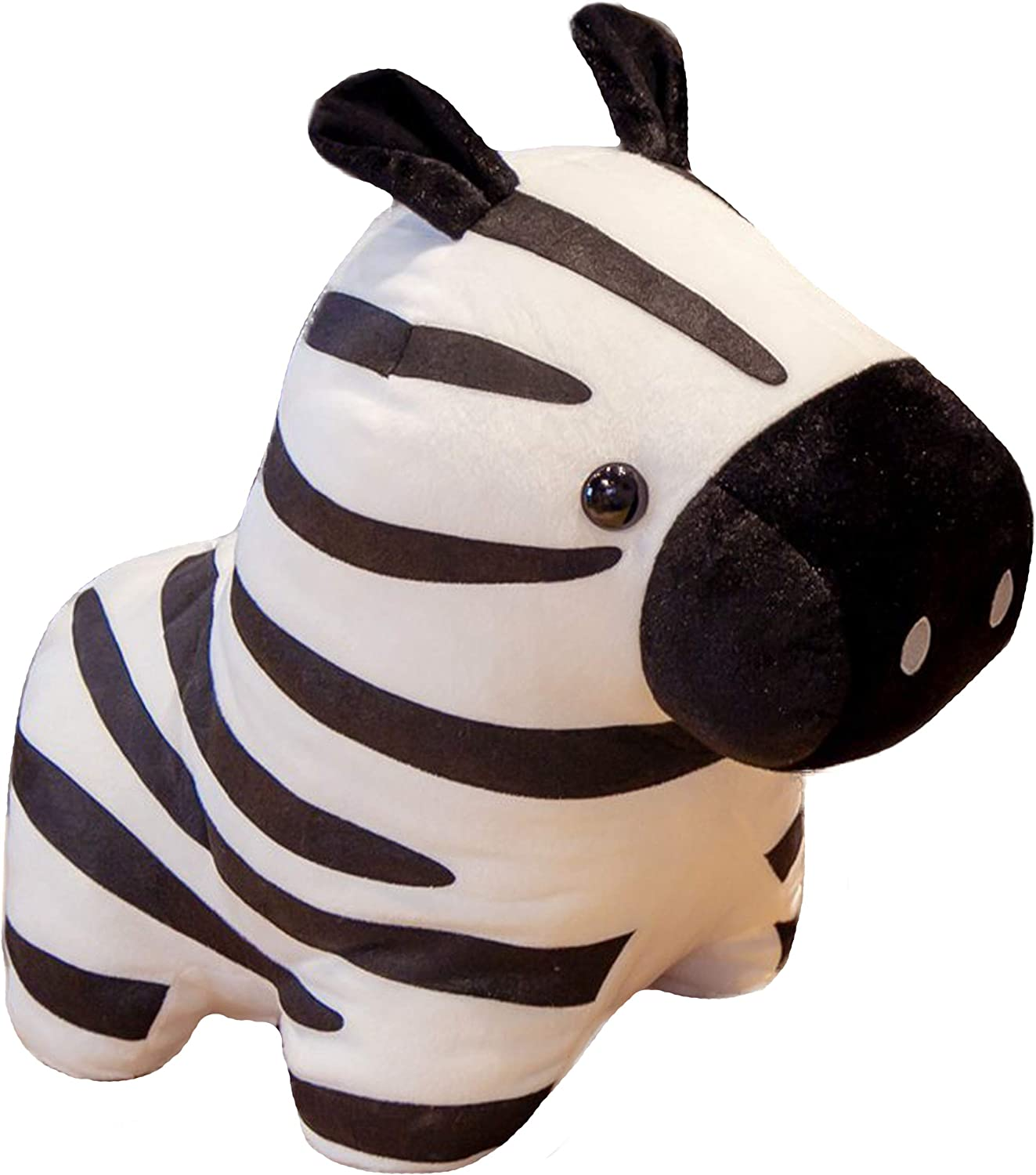 N-A Soft Zebra Plush Striped Horse Hugging Pillow Pet, 15.7X 21.7 Inch Cute Zoe Zebra Stuffed Animals Toy Cushion Home Decor Birthday Xmas Kids Gifts