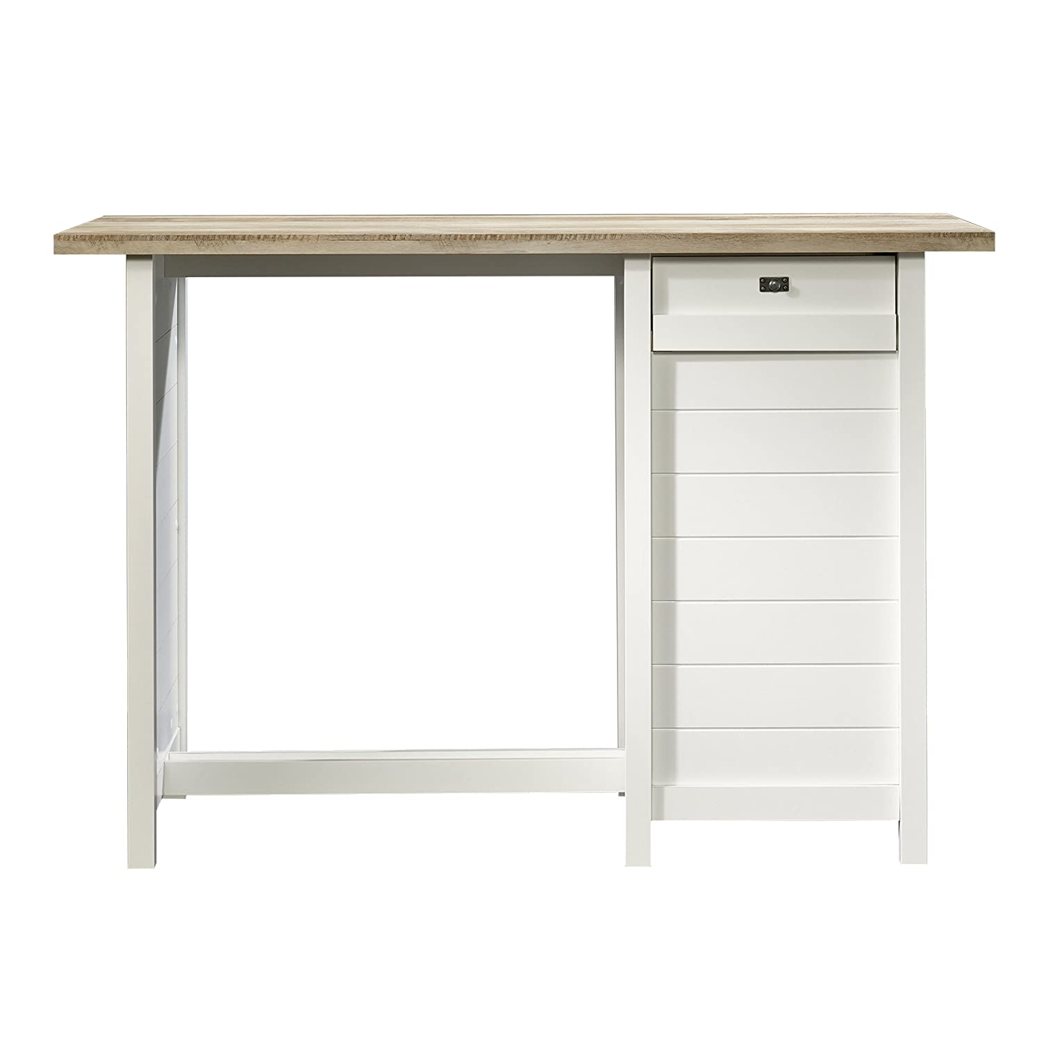 Remarkable Sauder Cottage Road Work Table Soft White Finish Gmtry Best Dining Table And Chair Ideas Images Gmtryco