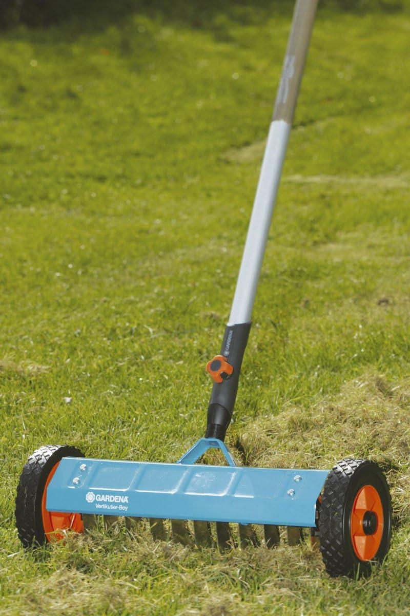 accessoire de jardin id/éal pour enlever la mousse et le chaume dans la pelouse R/âteau-a/érateur de gazon Combisystem de GARDENA/: scarificateur manuel 3391-20 largeur de travail de 35 cm