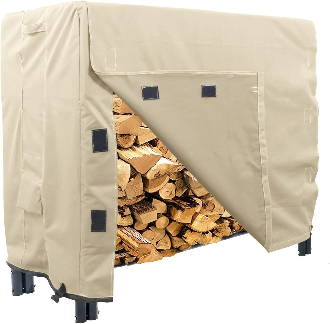 KHOMO GEAR – Heavy Duty Log Rack Cover – 4 Feet – Sahara Series – Beige