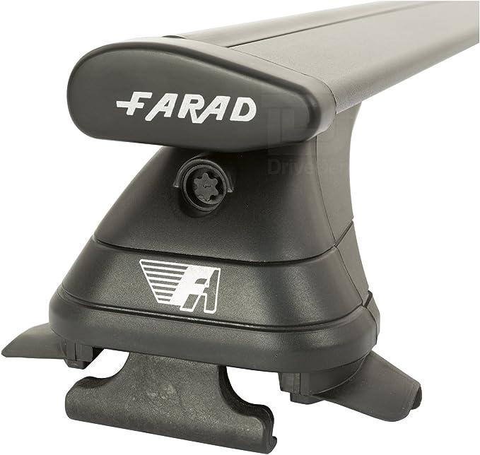 Open Roof Rails Farad Pro FA-ALU2BLK-147 Aluminium Black Wing Roof Bar Set