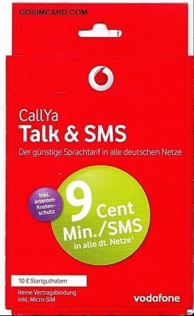 Vodafone CallYa SIM only Talk & SMS (10 Euro Guthaben)