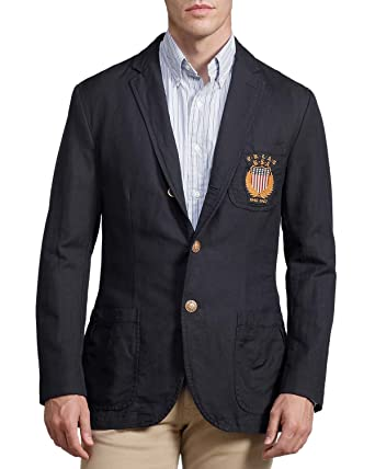 83a46288 Image Unavailable. Image not available for. Color: Ralph Lauren Polo Mens  Linen Cotton USA Blazer ...