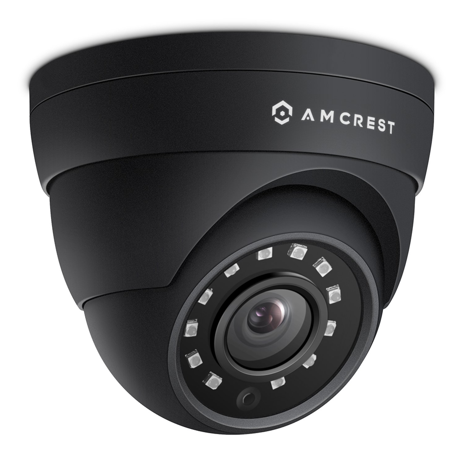 Amcrest 4MP IP Camera POE Security UltraHD Outdoor IP Cam Dome - IP67 Weatherproof, 98ft Night Vision, 4-Megapixel (2688 TVL), IP4M-1055E (Black)