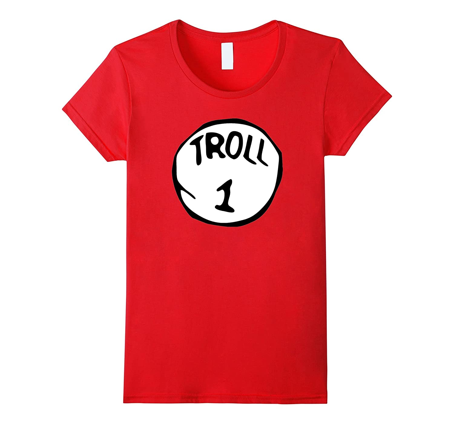 Troll 1 Monster Scary Halloween disfraz duende Ogre camiseta rosso ...