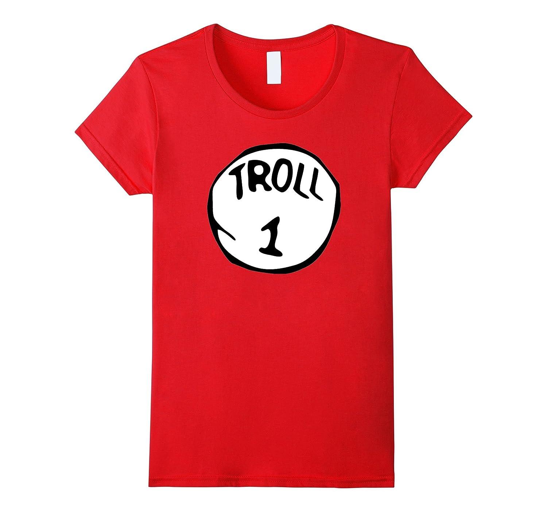 Troll 1 Monster Scary Halloween disfraz duende Ogre camiseta rosso ...