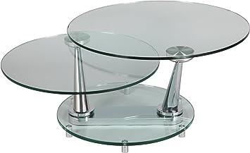 Destock Meubles Couchtisch Rund Glas Sockel Rund Amazonde Küche