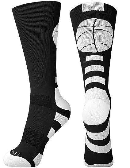 6b876b481 Basketball Socks for Men Women Youth Athletic Running Cushioned Crew Socks, 3  Pack, Black