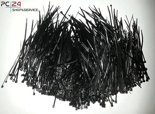 57 opinioni per Fascette per cablaggio- 1000pz- Nero- 2,5 x 100 mm- Risparmio- PC24 Shop &