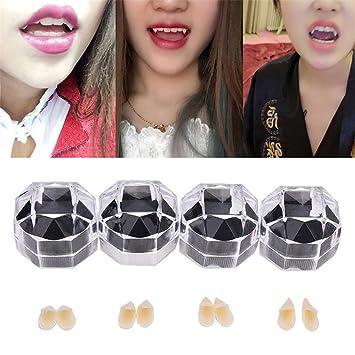 1pair Fancy Halloween Vampire Fangs Werewolf Teeth Tooth Dress Costume Accessory