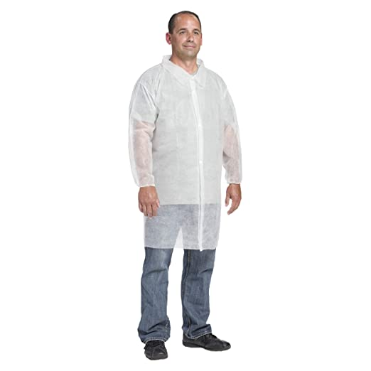 XL White Pack of 30 West Chester 3512 XL Polypropylene WGT SBP Lab Coat El.Wrt No Pocket