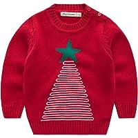 Vine Niños Sudaderas para Navidad Jersey Suéter Prendas de Punto Pull-Over Infante Traje de Navidad
