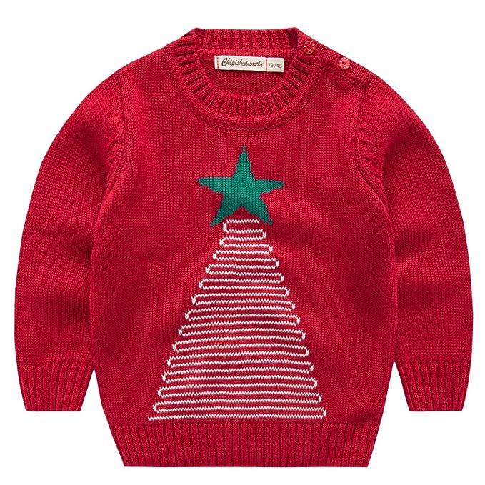 Niños Sudaderas para Navidad Jersey Suéter Prendas de Punto Pull ...