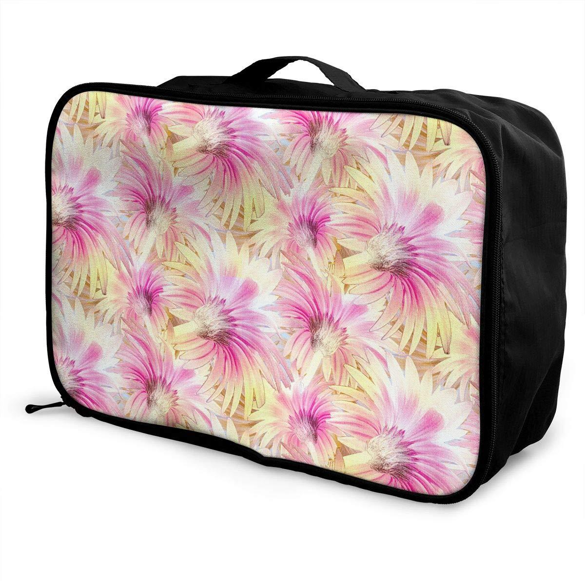 Travel Luggage Duffle Bag Lightweight Portable Handbag Floral Flowers Large Capacity Waterproof Foldable Storage Tote