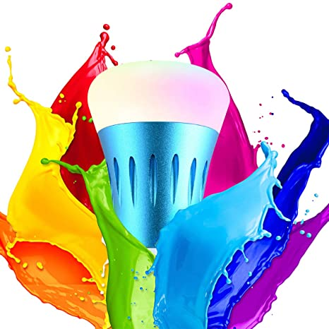 Unitify Bombillas Inteligentes con Alexa Echo y Google Home Timer bombillas wifi led E27/E26 con Cambio de Color, Intensidad Variable, Programa, Scene ...