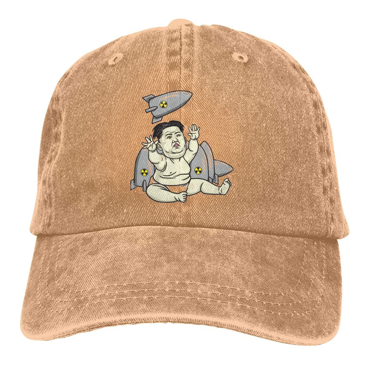 Amazon.com: Baseball Cap Gorras para Hombres Dad Cap Polo Hat Gorras De Mujer Donald Trump Kim Jong Un Casquette Black: Clothing