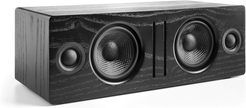 Audioengine B2 Wireless Bluetooth Speaker | Home Music System Desktop Speaker with aptX Bluetooth, 60W Powered Wireless Tabletop Speaker | AUX Audio Input for Phone, Tablet, Computer (Black)