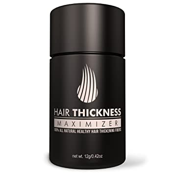 Hair Thickness Maximizer 2.0 - Safer Than Keratin Hair Building Fibers With 2nd Gen All Natural