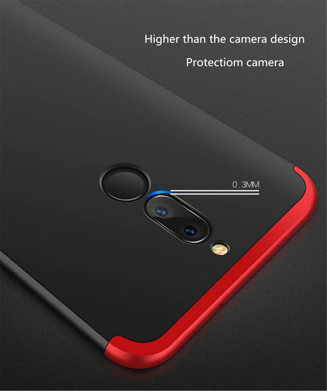 Joytag Funda Huawei P20 Lite 360 Grados Oro Ultra Delgado Todo Incluido Caja del tel/éfono de la Protecci/ón 3 en 1 Huawei Nova 3e PC Case Protectora de Pel/ícula de Vidrio Templado Oro
