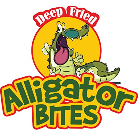 Amazon.com: Alligator Bites Concesión calcomanía Equipo Sign ...