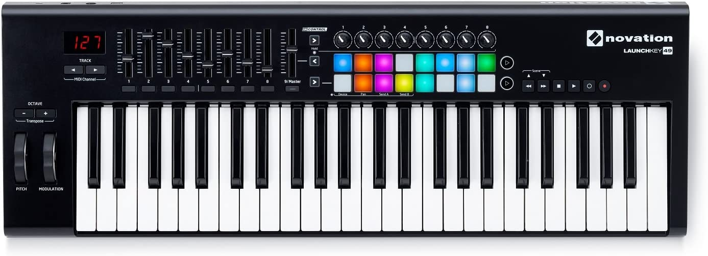 Novation LAUNCHKEY-49-MK2 49-Key USB Keyboard Controller+Headphones+Carry Bag