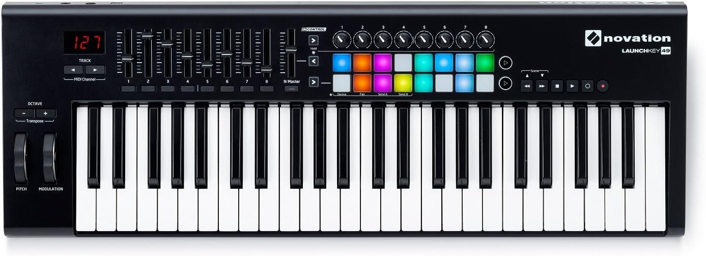 Novation LAUNCHKEY-49-MK2 49-Key USB Keyboard Controller+Headphones+Carry Bag