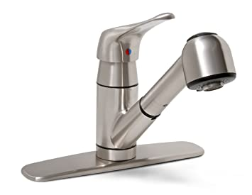Premier 120161LF Sonoma Single Handle Kitchen Faucet With Pull Out Spout,  Brushed Nickel