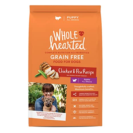 Amazon Com Wholehearted Grain Free Chicken And Pea Recipe Dry Puppy