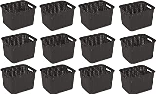 product image for Sterilite 12736P06 Tall Weave Basket, Espresso, (Basket 12-Pack)
