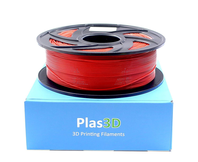 Plas3D - Filamento ABS de bajo olor, color rojo, 1,75 mm, 1 kg ...