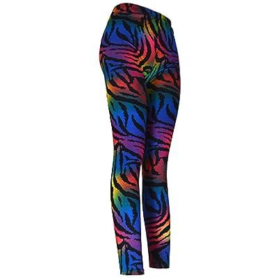 """""""Colored Tiger Stripes"""" Ladies Footless Printed Leggings"""