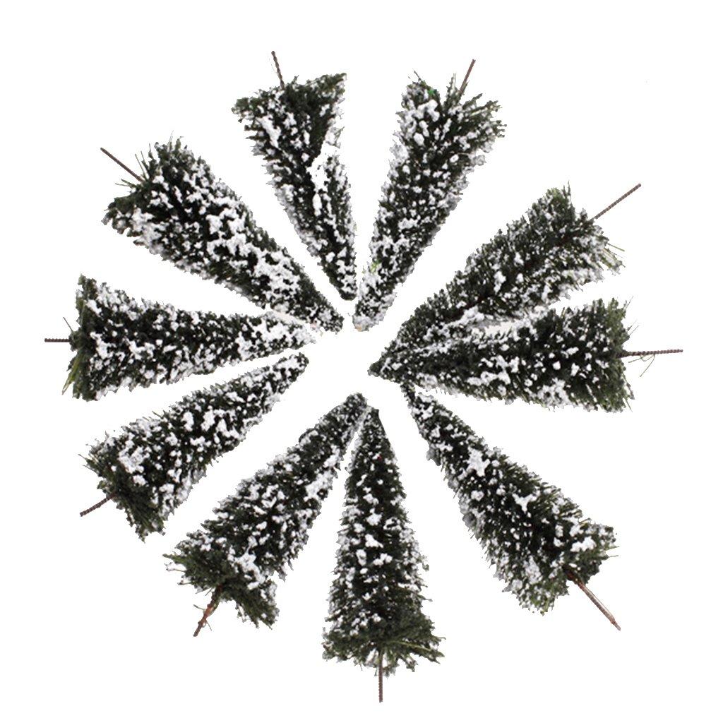 10 Model Cedar Pine Trees Train Railway War Game Winter Snow Scenery TT-N