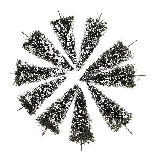 1 opinioni per 10pcs Bianco Verde Scuro Paesaggio Modello Paesaggio Alberi Di Cedro 8