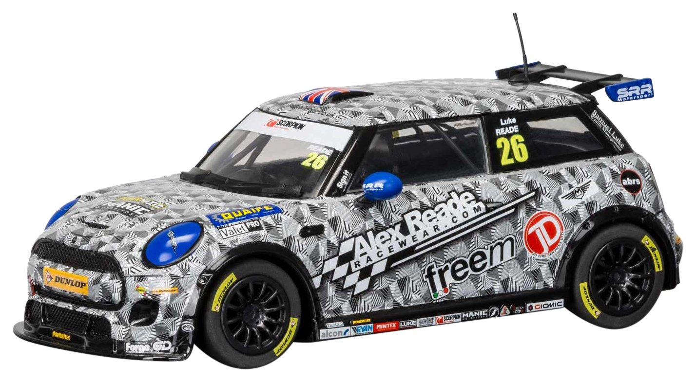 Amazon Com Scalextric Bmw Mini Cooper F56 Luke Reade 1 32 Slot Car