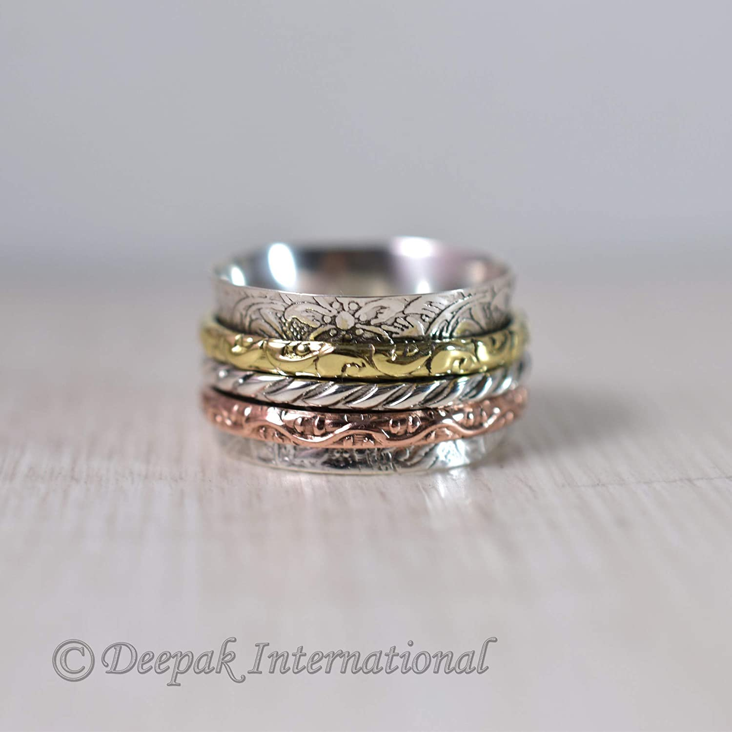 Spinner Ring Chunky Ring unique Ring LOVELY Sale Gemstone Ring Handmade Gift Ring Anxiety Ring Sterling Silver Ring Meditation Ring