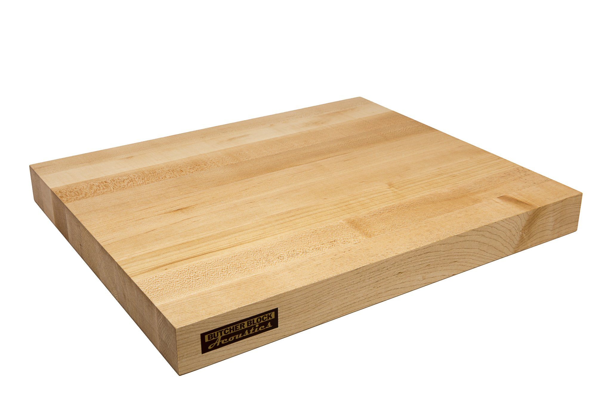 Butcher Block Acoustics Audio Isolation Platform - Edge Grain (17'' x 14'' x 1-3/4'', MAPLE)